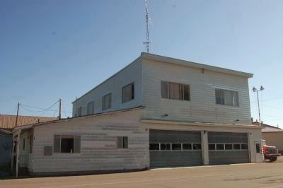 Westwood Firehouse and Marker image. Click for full size.