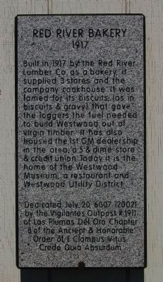 Red River Bakery Marker image. Click for full size.