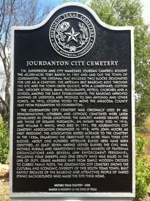 Jourdanton City Cemetery Marker image. Click for full size.