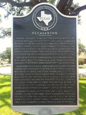 Pleasanton Marker image. Click for full size.