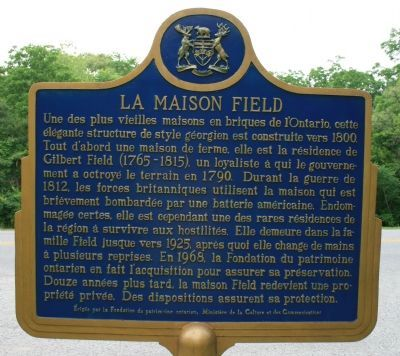 The Field House Marker image. Click for full size.