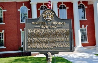 Walter F. George Marker in its new location image. Click for full size.