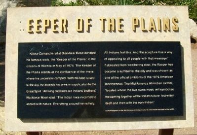 Keeper of the Plains Marker image. Click for full size.