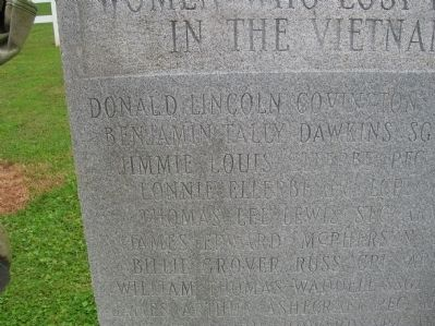 Richmond County Vietnam War Memorial Marker (top left) image. Click for full size.