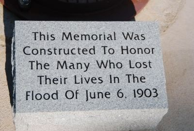 Pacolet River Flood Memorial -Panel Two image. Click for full size.