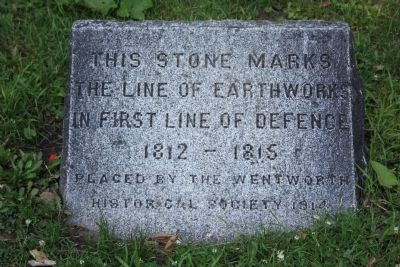 First Line of Defense Marker image. Click for full size.