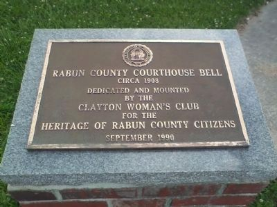 Rabun County Courthouse Bell Marker image. Click for full size.