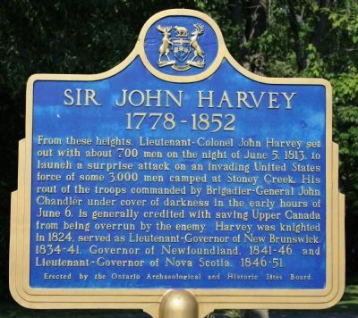 Sir John Harvey 1778 - 1852 Marker image. Click for full size.