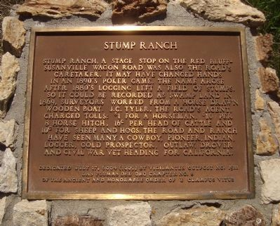 Stump Ranch Marker image. Click for full size.