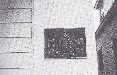 Plumas Lodge No. 60 F&AM Marker image. Click for full size.