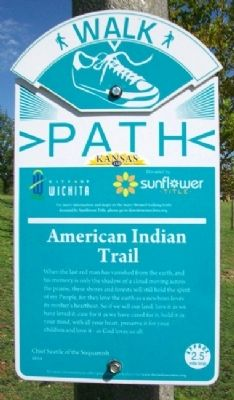 American Indian Trail Marker image. Click for full size.