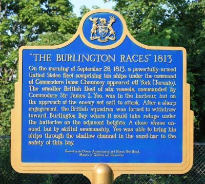 """The Burlington Races"" 1813 Marker image. Click for full size."
