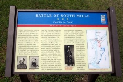 Battle of South Mills CWT Marker image. Click for full size.