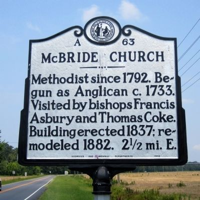 McBride Church Marker image. Click for full size.