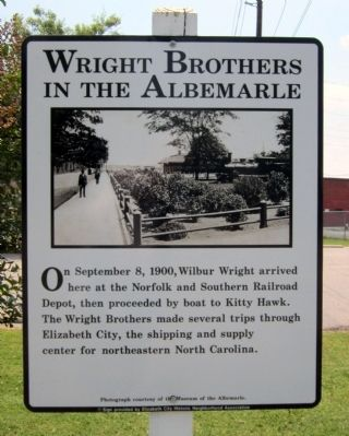 Wright Brothers in the Albemarle Marker image. Click for full size.
