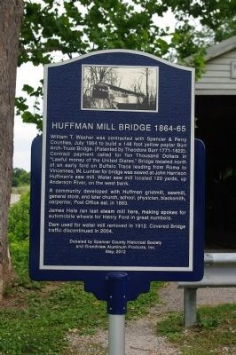 Huffman Mill Bridge 1864-65 Marker image. Click for full size.