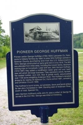 Pioneer George Huffman Marker image, Touch for more information