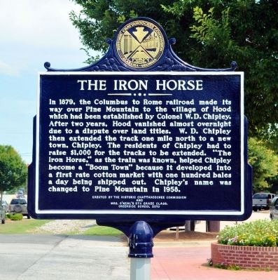 The Iron Horse Marker image. Click for full size.