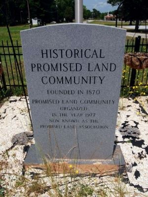 Historical Promised Land Community Marker image. Click for full size.