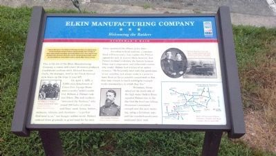Elkin Manufacturing Company Marker image. Click for full size.