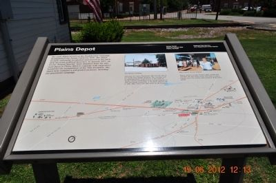 Plains Depot Marker image. Click for full size.