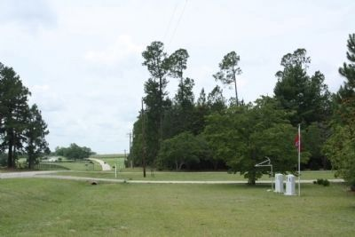 The Crawfords Memorial ,seen looking southwest along Wagener Road image. Click for full size.