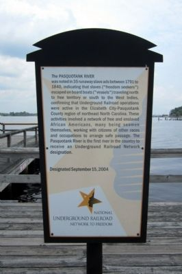 Pasquotank River Marker image. Click for full size.