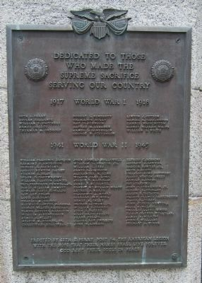 Pasquotank WWI & WWII plaque image. Click for full size.