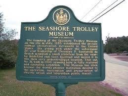 The Seashore Trolley Museum Marker