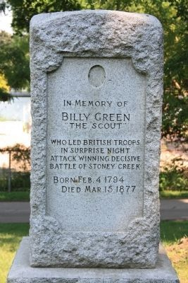 Billy Green Monument Marker image. Click for full size.