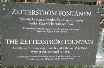 The Zetterström Fountain Marker image. Click for full size.