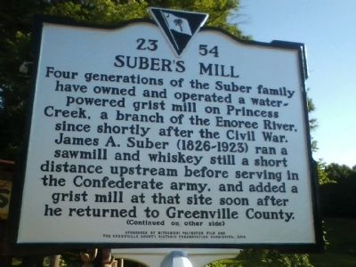 Suber's Mill Marker image. Click for full size.