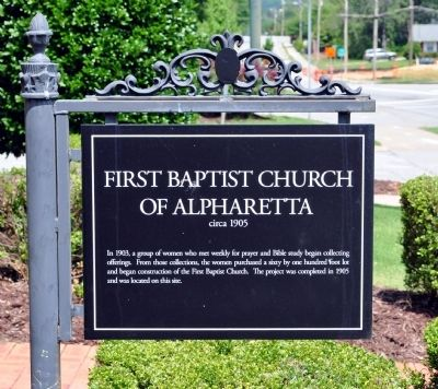 First Baptist Church of Alpharetta Marker image. Click for full size.