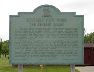 The Genesee Valley Marker image. Click for full size.