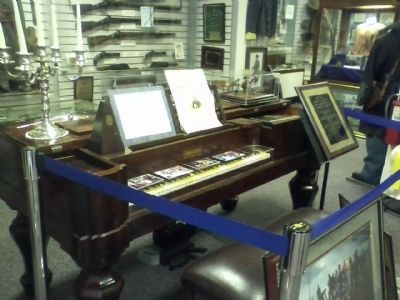 1861 Grand Piano with Melodeon image. Click for full size.