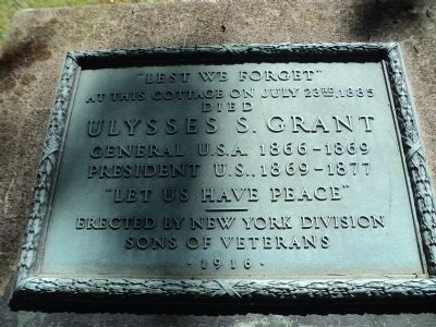Ulysses S. Grant Died Marker image. Click for full size.