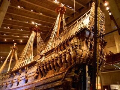 HSMS <i>Vasa</i> restored - on display in the Vasa Museum, Stockholm image. Click for full size.