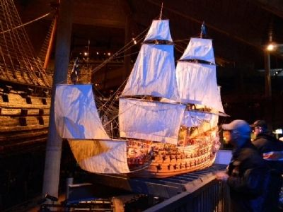 Model of HSMS Vasa under sail image. Click for full size.