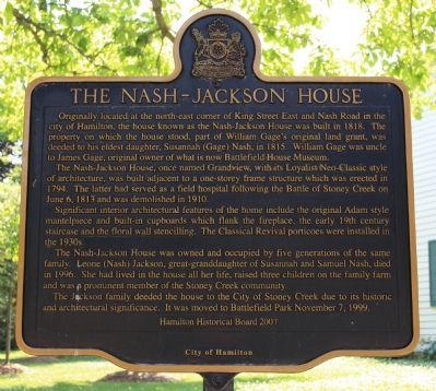 The Nash-Jackson House Marker image. Click for full size.
