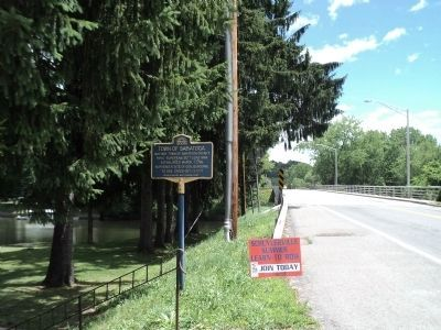 Town of Saratoga Marker image. Click for full size.