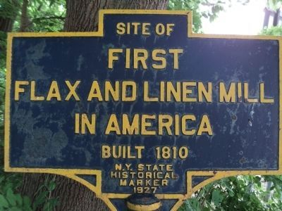 Flax and Linen Mill Marker image. Click for full size.