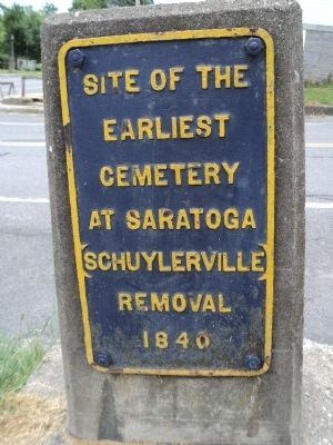 Earliest Cemetery Marker image. Click for full size.
