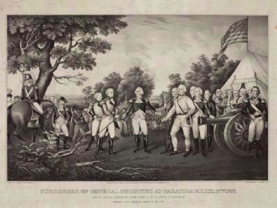 Surrender of General Burgoyne at Saratoga N.Y. Oct. 17th. 1777 image. Click for full size.