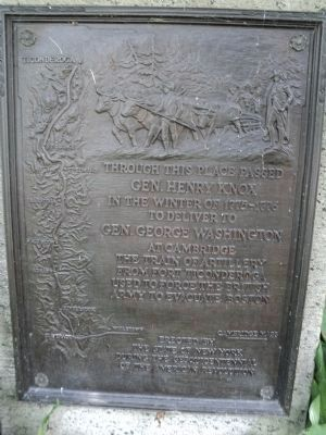 Gen. Henry Knox Trail Marker - NY-12 image. Click for full size.