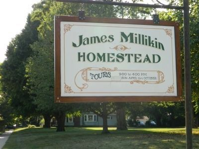 James Millikin Homestead sign image. Click for full size.