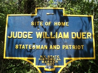 Judge William Duer Marker image. Click for full size.