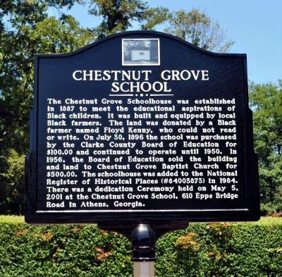 Chestnut Grove School Marker image. Click for full size.