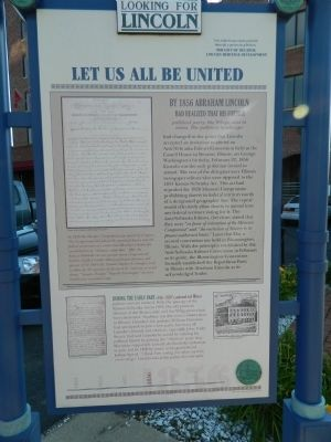 Let Us All Be United Marker image. Click for full size.