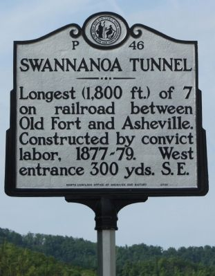 Swannanoa Tunnel Marker image. Click for full size.