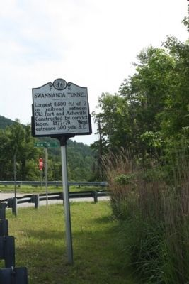 Swannanoa Tunnel Marker seen at Royal Gorge Road image. Click for full size.
